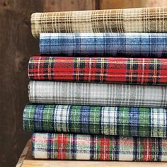 Flannel Plaid Sheets, for when my little guy gets a big boy bed