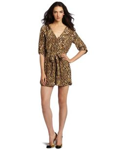 Charlie Jade Women's Amy Romper -      $  138.00  This silk Charlie Jade romper has a crossover bodice with a concealed snap closure, elbow-length roll-tab sleeves, and roll-tab shorts. Removable sash tie. Concealed side zipper. Unlined.  The amy rom
