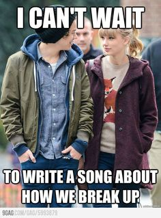 Taylor Swift and Harry Styles...like every other song she's ever written...