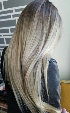 Rooty Blonde | Blonde Balayage on long hair
