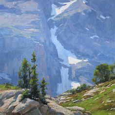 Artist David Santillanes--Mountain landscape. Gorgeous painting