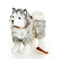 The Queen's Treasures Doll Pet Accessory - Husky Dog with Collar & Leash Cosas American Girl, American Girl Doll Pets, American Girl Dolls, Our Generation Dolls, Our Generation Doll Accessories, Baby Shower Niño, Husky Puppy, Pet Accessories, American Girl Accessories