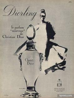 Christian Dior (Perfumes) 1964 Diorling, René Gruau