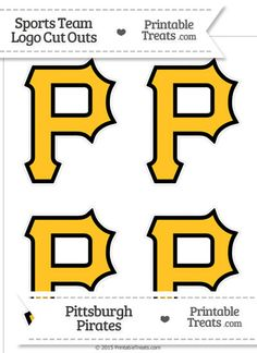 Small Pittsburgh Pirates Logo Cut Outs from PrintableTreats.com