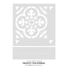 Our Tile Stencil is a great choice for a money-saving tile makeover! Our tile stencils are perfect for painting a gorgeous kitchen tile backsplash, stenciled staircase, table top or painted tile floor. By Cutting Edge Stencils Painting Tile Floors, Painted Floors, Stencil Painting, Stenciling, Painted Tiles, Faux Painting, Stenciled Curtains, Cutting Edge Stencils, Free Stencils