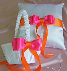 Wedding Accessories Pillow Basket  Ring Bearer by All4Brides, $55.00