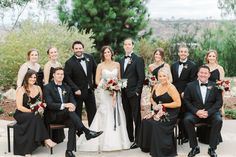 Bride in Anne Barge sweetheart gown with red ivory and mauve bouquet and bridesmaids in black dresses with groomsmen in black tuxes at Green Acre Campus Pointe Wedding, photo by Cavin Elizabeth Photography Black Bridesmaid Dresses, Bridesmaids, Wedding Dresses, Wedding Parties, Wedding Reception, Wedding Pictures, Wedding Ideas, Anne Barge, Groomsmen