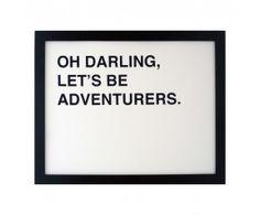 Lets Be Adventurers Print.