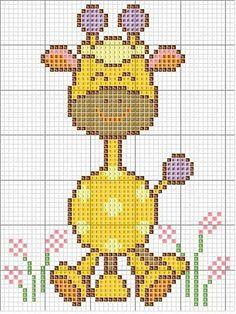 diagramas de animales para bordar jirafa - Buscar con Google