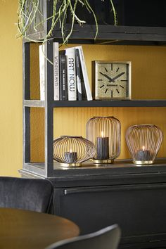 Our basic collection Black & Gold is an absolute must for any modern interior. The options are almost endless. Make your interior timeless by adding black and add some gold as a fashionable finishing touch. Modern Interior, Black Gold, Liquor Cabinet, Shelves, Storage, Touch, Furniture, Vintage, Lifestyle