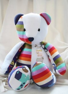 Memory Bear...with dad's threads. he will b a very handsome bear xoxox