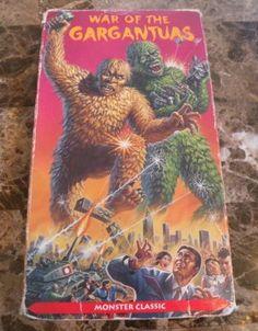 War of The Gargantuas RARE VHS VHTF 1970 Japanese Monster Classic | eBay