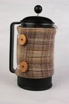 French Press coffee pot cozy French coffee by ChocolateDogStudio, $20.00