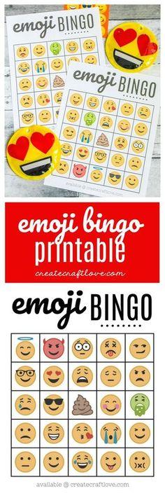 Emoji party emoji bingo game