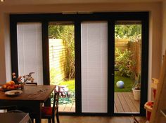 it's great that they have some of these shades that are made for ... - Patio Door Shades Ideas