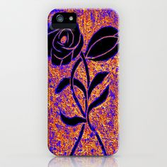 Black As The Flower iPhone & iPod Case by Christa Bethune Smith, Cabsink09 - $35.00