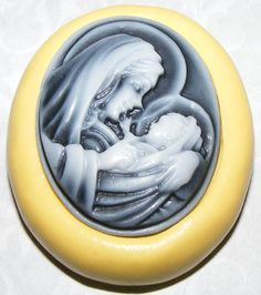 Mary and Jesus Cameo Mold 36X28X65mm by RitziecatTreasureBox, $4.65