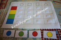 Kolory i figury w jednym - zabawa dla 2 latka | Kreatywnie w domu Montessori Math, Activities, Diy, Therapy, Bricolage, Diys, Handyman Projects, Do It Yourself, Crafting