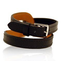 Hermes Black Doubled Loop Bracelet  http://www.consignofthetimes.com/product_details.asp?galleryid=6235