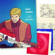Coloring book + vinyl!!! #buckowens #actnaturally #vinyl #recordstoreday #countrymusic www.johnpauldehaas.com