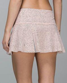Lululemon Hit Your Stride Skirt $64.00Speckle Dot Parfait Pink Black ~