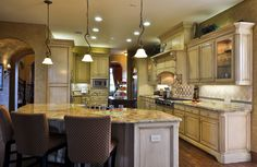 The Tolliver II Kitchen with roomy island