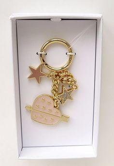 Michael Kors Heart Key Chain Charm Soft Pink in Gift Box #MichaelKors