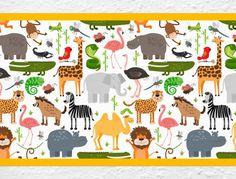 Kinderzimmer Bordüre Safari