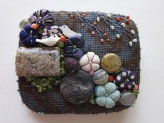 「にゃん」の針しごと Boro, Needlepoint, Needlework, Pouch, Embroidery, Handmade, Fabric Purses, Blue Prints, Clutch Bags