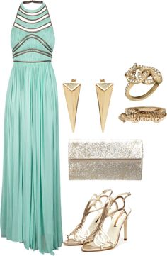 A fashion look from January 2013 featuring long green dress, stilettos shoes and glitter clutches. Browse and shop related looks. Disney Dresses, Disney Outfits, Prom Dresses, Fabulous Dresses, Beautiful Outfits, Beautiful Clothes, Disney Princess Fashion, Disney Fashion, Character Inspired Outfits