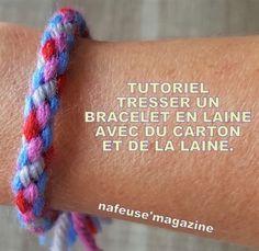 TUTO tresser un bracelet en laine Friendship Bracelets, Macrame, Aide, Hobbies, New York, Recipes, Note, Diy Crafts, Bricolage Noel