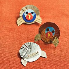 Paper Turkey Pins