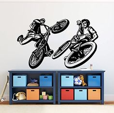 Customizable Dirt Bike Decal Modern Wall Art Decals Pinterest