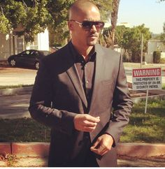 Derek Morgan suited and booted. Ready to chase the bad guys