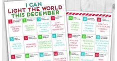 A Year of FHE: FREE DOWNLOAD // LDS LIGHT the WORLD Service Calendar for Kids!