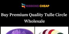 Buy Premium Quality Tulle Circle Wholesale by Ribbons Cheap - Infogram Tulle Fabric, Wedding Favors, Stuff To Buy, Wedding Keepsakes, Favors