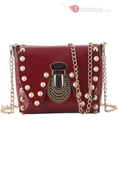 5bde91922e Popular Rivet Chain One-shoulder Women s Bags
