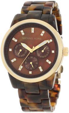 Michael Kors Women's MK5038 Ritz Tortoise Watch : Disclosure: Affiliate link