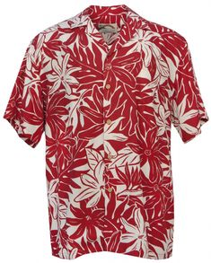 Tahitian Gardenia Mens Hawaiian Aloha Shirt in Red, Mens Hawaiian Shirts Clothing, Mens Hawaiian Shirts, Aloha Shirt, Shirt Outfit, Button Up, Wedding Planning, Men Casual, Tees, Mens Tops, Prints