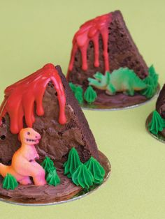 Dinosaur Volcano Brownies!!!