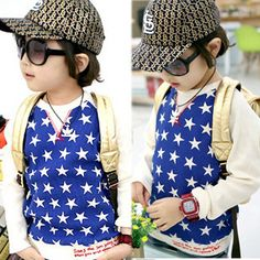 2013 autumn korean version of the new five-star big letters splicing sleeve children clothing baby long-sleeved t-shirt men 4208 only $6.93USD a Piece