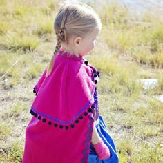 Make a cape for your little girl that was inspired by Princess Anna's cape in Disney's Frozen. Free pdf pattern.
