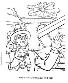 free printable president harry s truman coloring pages