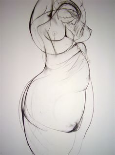 'Dreaming of Motherhood', charcoal on paper, 81cm x 57cm (c)Carmel Jenkin. More info about me & my art at http://carmeljenkin.com