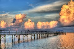 View of Tampa Bay and Safety Harbor Pier.