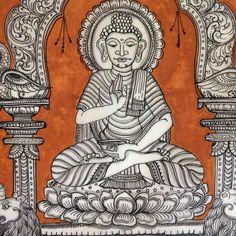 Buddha Pattachitra on Silk