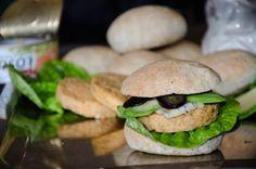 Fishburger z łososia z puszki