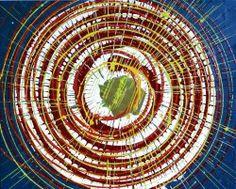 """Giuseppe Marchetti (Italy) """"7_13"""" smalti, pigmento metallico color oro, antiruggine ferromicaceo, sabbia su cartone telato rinforzato da telaio in legno (sul retro) cm. 40x50"""