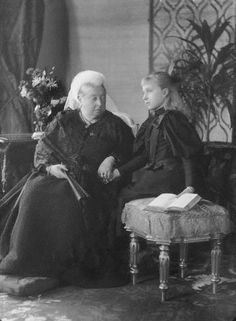Queen Victoria with grand-daughter Princess Victoria Eugenie of Battenberg