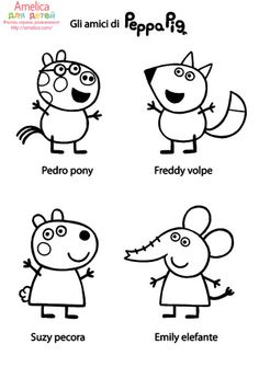 Printable Peppa Pig Coloring Pages. Have a Joy with Peppa Pig Coloring Pages. If they do, the Peppa pig coloring pages Peppa Pig Coloring Pages, Family Coloring Pages, Cartoon Coloring Pages, Printable Coloring Pages, Colouring Pages, Coloring Pages For Kids, Coloring Sheets, Coloring Books, Peppa Pig Familie